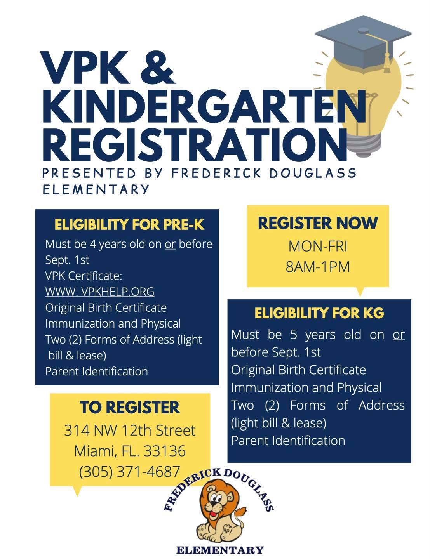 VPK and Kindergarten Registration Flyer